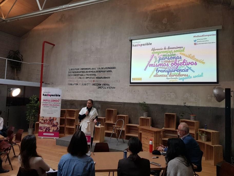 Catalina Parra durante su intervención en el evento