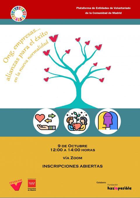 Cartel de la jornada de Voluntariado Corporativo Transformador organizada por Fevocam